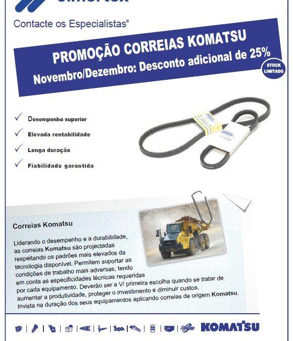 Correias Komatsu