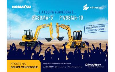 Renting e Venda – Komatsu PC80MR-5 e PW98MR-10