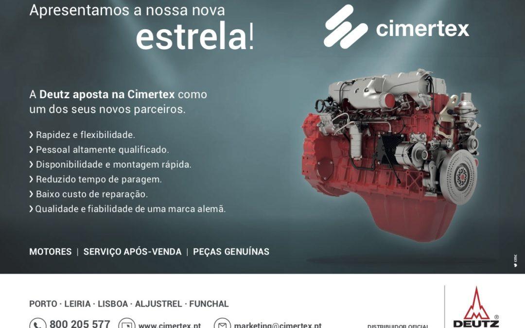 A Cimertex foi nomeada representante oficial em Portugal dos motores DEUTZ